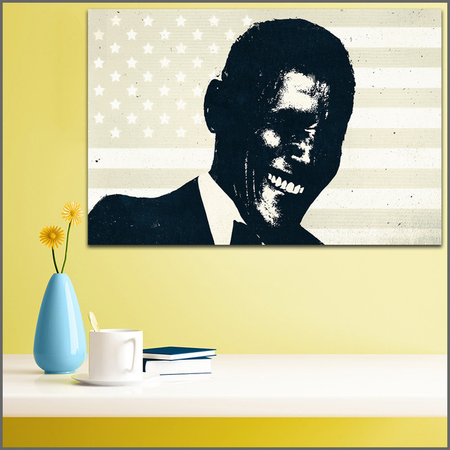 Large Size Canvas Print Wall Art Barack Obama Men Negroid Oil ...