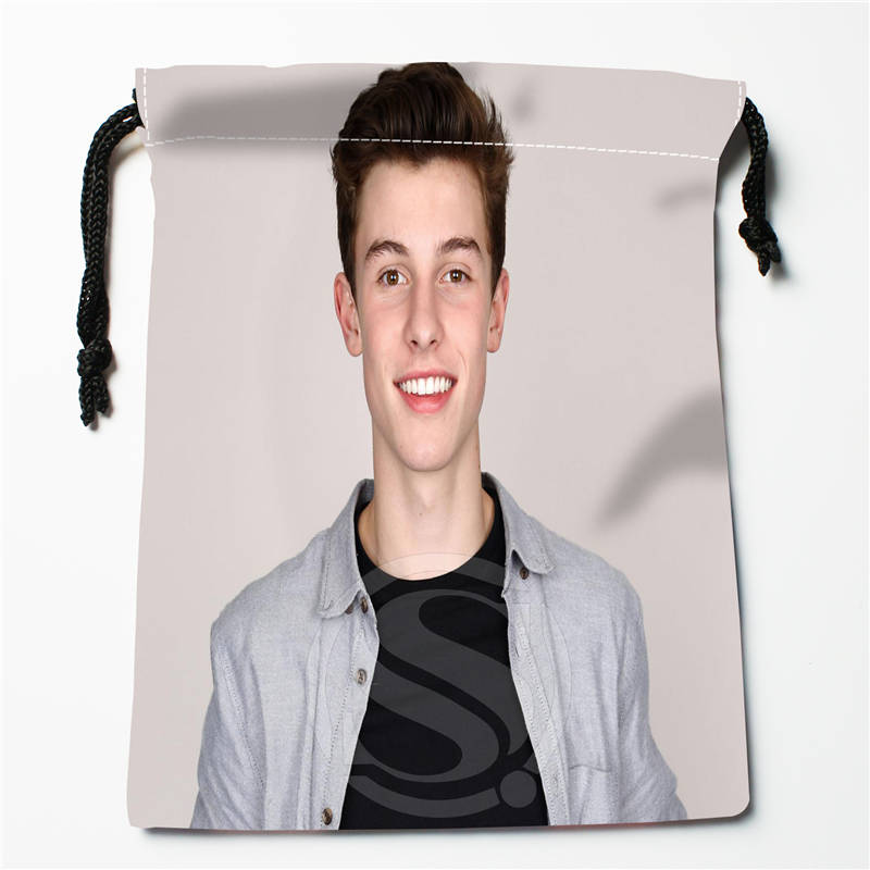 E#!w135 New Shawn Mendes Custom Printed  Receive Bag Compression Type Drawstring Bags Size 18X22cm 7&12gt-wt135