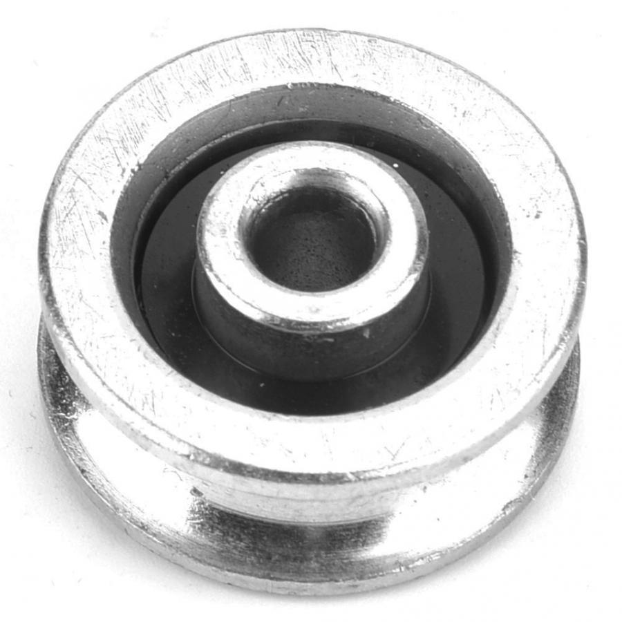 White Nylon Roller Pulley Wheel 2P w//4 Nuts and 4 Gaskets for Furniture Hardware