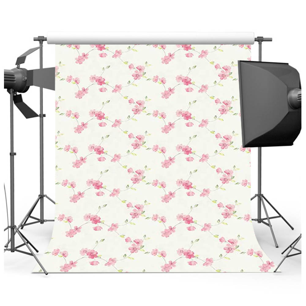Mehofoto Newborn Backdrop for Photophone Small Floral Background for Photo Shoot Studio Computer printed F-1490