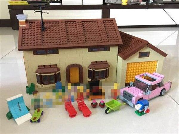 New 2586Pcs Simpsons family Kwik-E-Mart Set Building Blocks Bricks Educational Toys figures Funny Lovely Toys Gifts