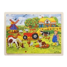 60-Piece / set Miller's Farm Wooden Jigsaw Puzzle Baby Kids Children Educational Toy