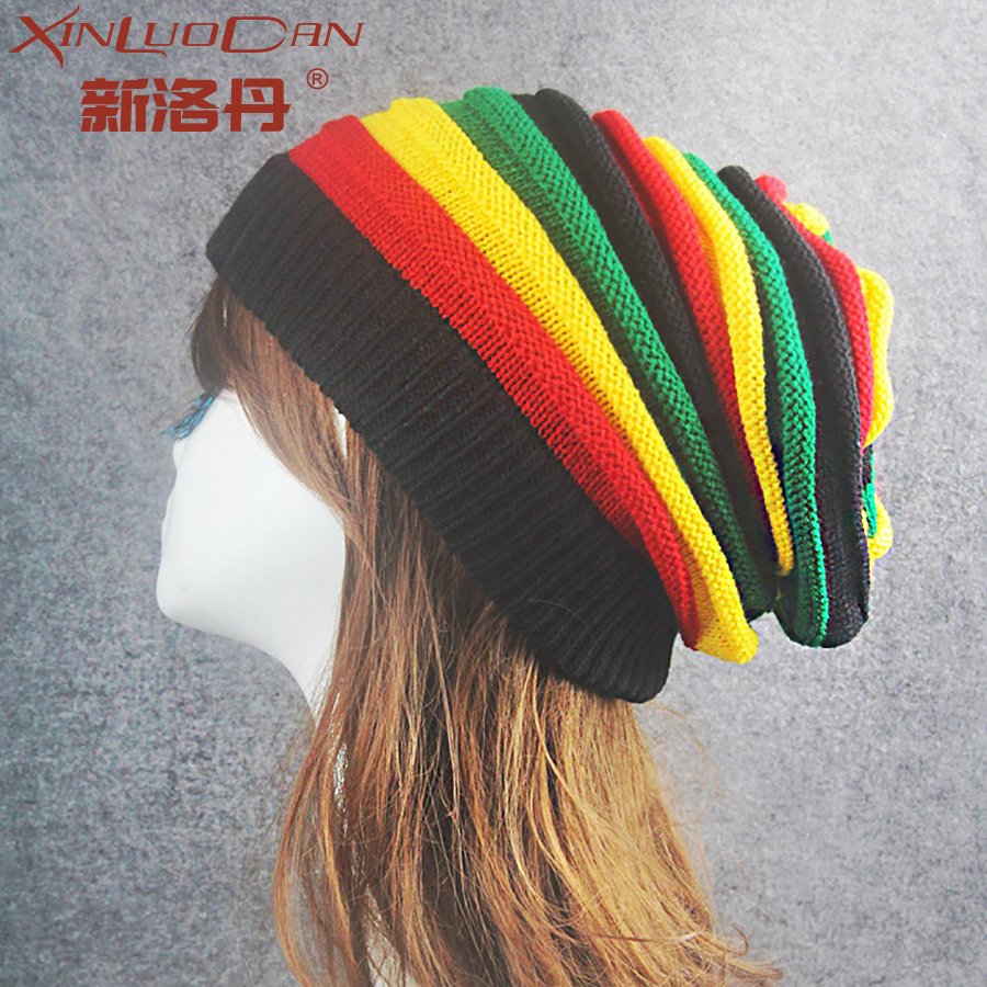 2017 New Fashion Women Winter Cap Bonnet Color Stripes Hats For Men Warm Wool Knitted Hat Winter Caps Gorras WH107 aetrue winter knitted hat beanie men scarf skullies beanies winter hats for women men caps gorras bonnet mask brand hats 2018