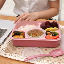 Kitchen 5 Plus 1 Sealed Microwaveable Lunch Box With Spoon Bento Box For Kids School Office