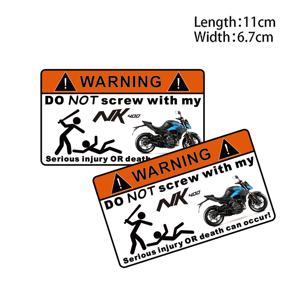 KODASKIN 2 Pieces Do Not Screw Warning Sticker Decal for CFMOTO <font><b>NK400</b></font> image