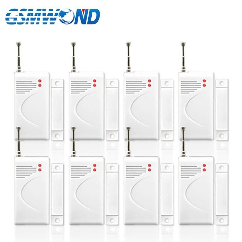 8 Pieces Of Wireless Door Window Detector, 433MHz Wireless Door Window Open Sensor Alarm For Home Burglar Alarm System