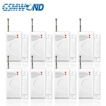Detector de puerta ventana inalámbrico, 8 piezas, 433MHz, puerta ventana inalámbrica, alarma con Sensor abierto para sistema de alarma antirrobo para el hogar