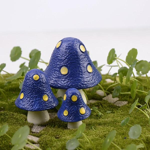 3pcs totoro pot mushroom fairy garden miniatures Moss Succulent ...