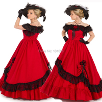 NEW!Retro Red 19 Century Vintage costumes Victorian dresses Historical Rococo Cosplay Halloween dresses Renaissance dress HL 122