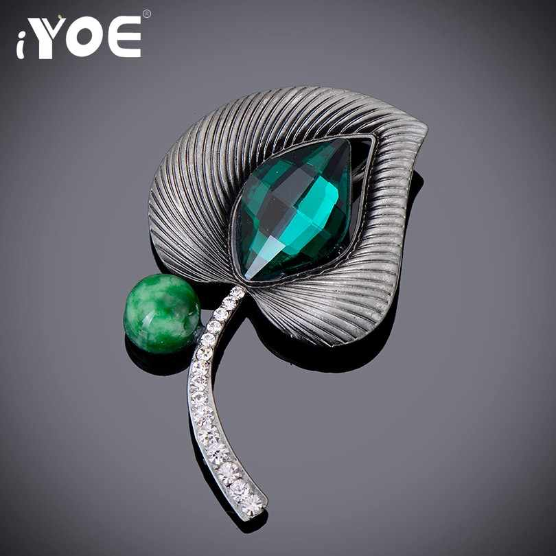 Iyoe Fashion Bunga Bros untuk Wanita Gaya Vintage Besar Berlian Imitasi Kristal Bros Pin Wanita Bros Perhiasan Aksesoris