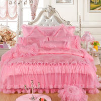 Luxury Royal Stain Jacquad Lace Bedding Set King Queen Size 4/8Pcs Wedding Bed set Silk Cotton Duvet Cover Bedspread 40