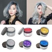 6pcs Set Color Hair Wax Styling Pomade Silver Grandma Grey Temporary Hair Dye Disposable Fashion Molding
