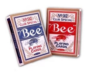 Small bee poker high quality playing cards magic tricks magic props red color