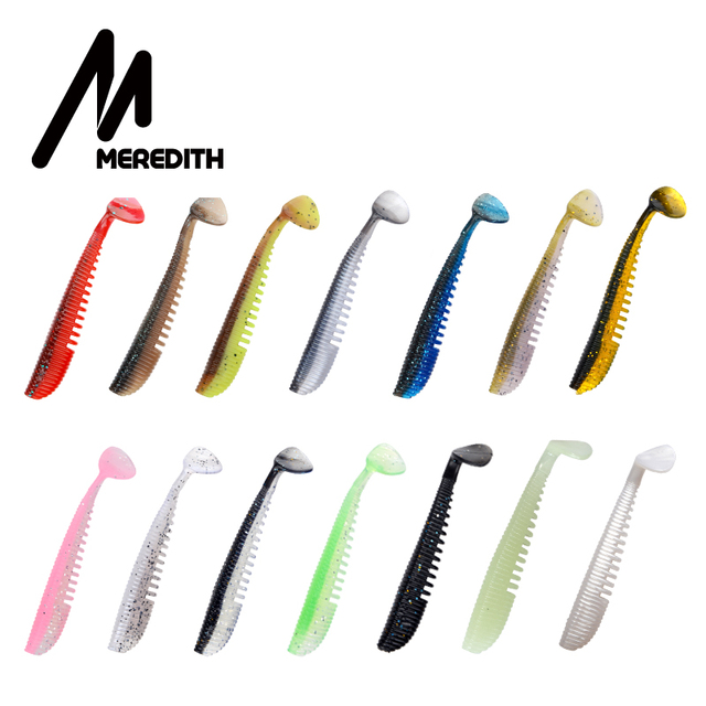 MEREDITH Awaruna Fishing Lures 8cm 9.5cm 13cm Artificial Baits Wobblers Soft Lures Shad Carp Silicone Fishing Soft Baits Tackle