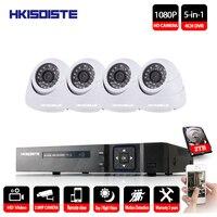 HD 2MP Video Surveillance CCTV System 4CH Full HD 1080P HD AHD DVR Kit 4*1080P Black camera Indoor Security Camera System