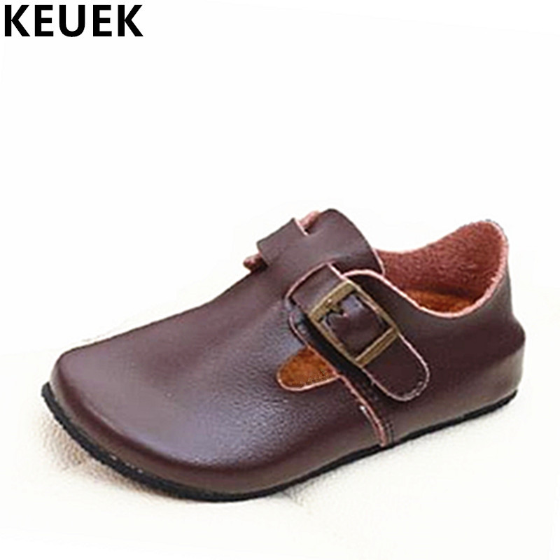 Spring Autumn Fashion Children Flats Breathable Genuine leather Loafers Boys Girls baby Boat shoes Kids Casual leather shoes 018 muhuisen brand new fashion summer spring men driving shoes loafers real leather boat shoes breathable male casual flats loafers