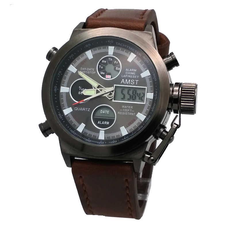 Amst 3003 montre أوم الغوص سباحة الرقمية lcd الكوارتز في الساعات الرياضية relogio masculino ساعة للرجال reloj هومبر