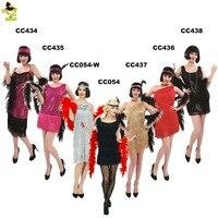 2018 New Sexy Women Clothing Robe Femme 1920s Great Gatsby Flapper Dress Tassel Embroidery Midi 2018 Vestido De Festap costumes