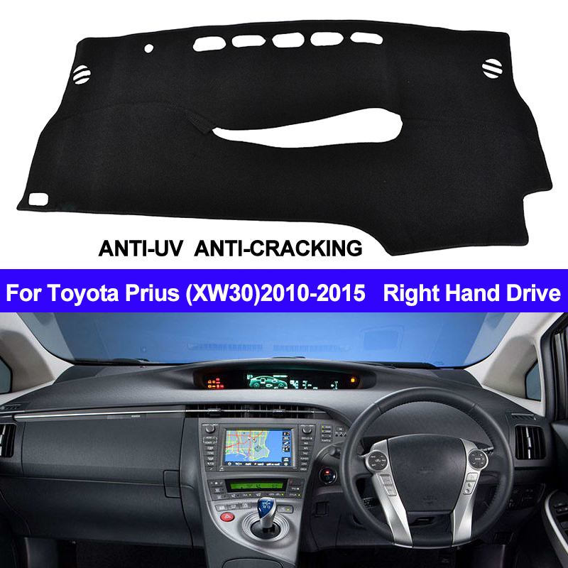 TAIJS For Toyota Prius XW30 2010 2011 2012 2013 2014 2015 Dash Mat Right Hand Car Dashboard Cover Right Hand Sun Shade Carpet