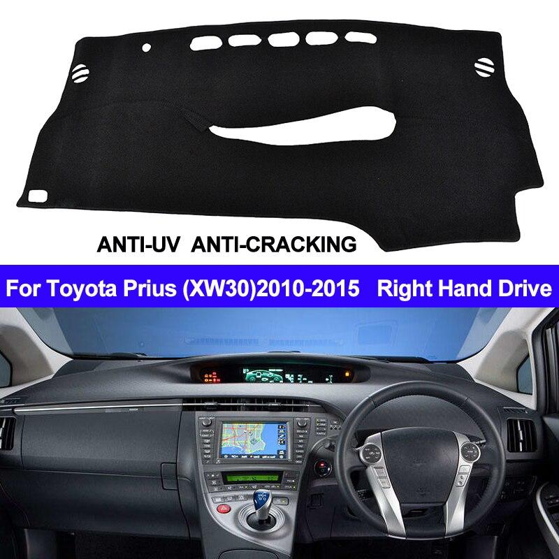 TAIJS For Toyota Prius XW30 2010 2011 2012 2013 2014 2015 Dash Mat Right Hand Car Dashboard Cover Right Hand Sun Shade Carpet
