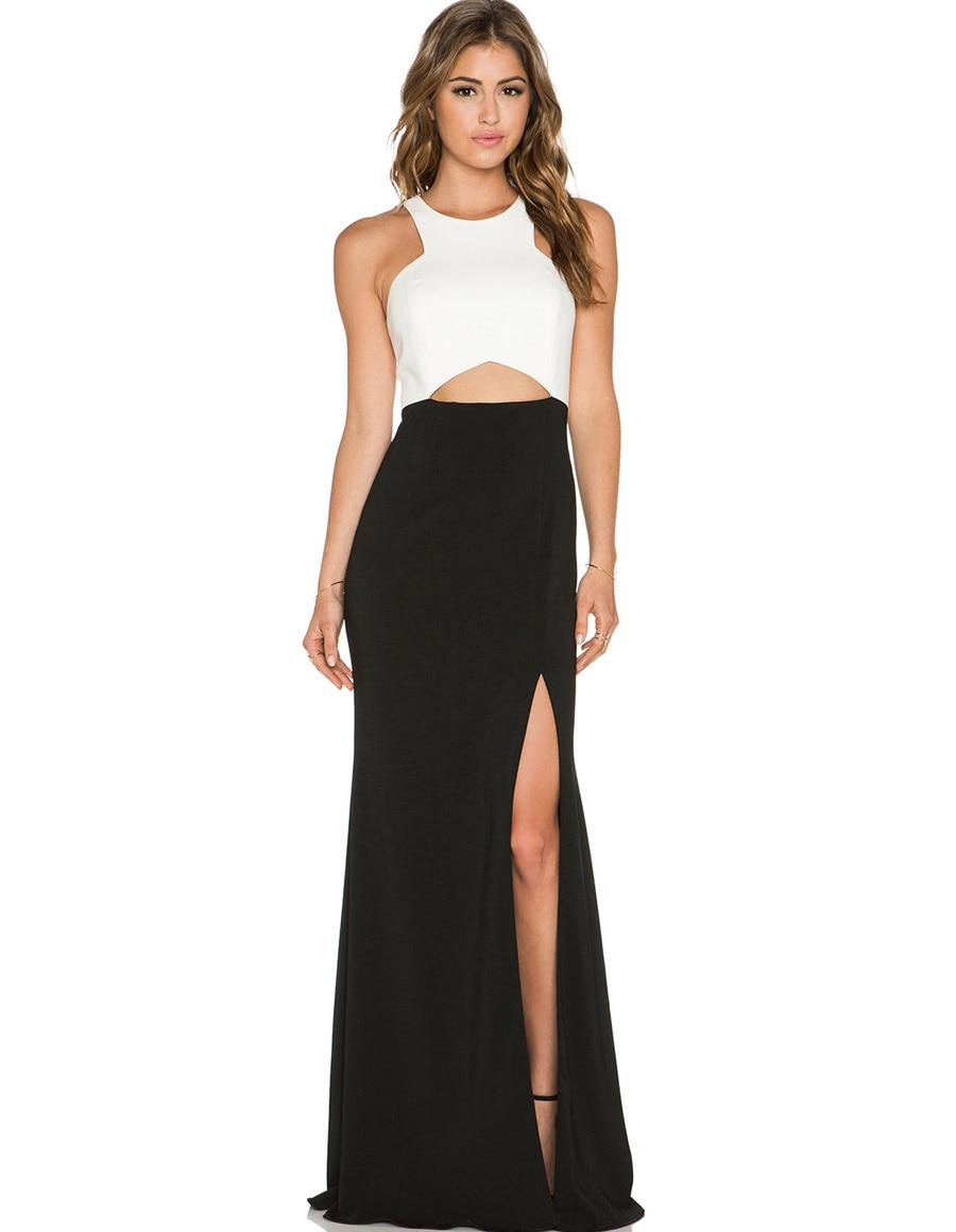 Vestidos largos blanco y negro