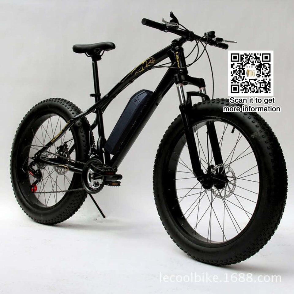 Les frais d'expédition lente gratuit EBike De Montagne Route Vélo Électrique 48 v 500 w 26*4.0 fat tire, neige vélo