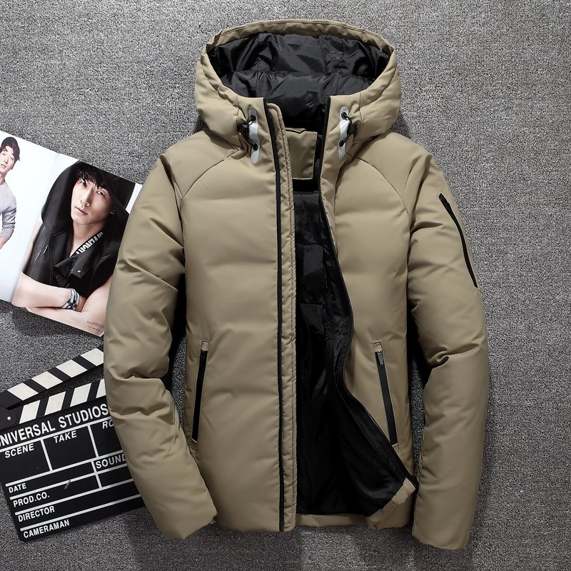 2018 New Design Fashion Winter Jacket Men   Down     Coat   Parka White Duck   Down   Casual Windproof Thick Business Jackets   Coat   Hooded