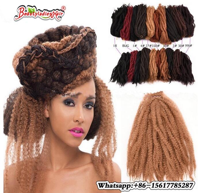 18 100g Synthetic Afro Kinky Curly Twist Hair Crochet Braids Marley For Dreadlocks Kanekalon Braiding On Aliexpress