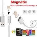 Fiable y de alta velocidad de carga 2.4 un cargador micro usb cable adaptador magnético de cargador para samsung android lg