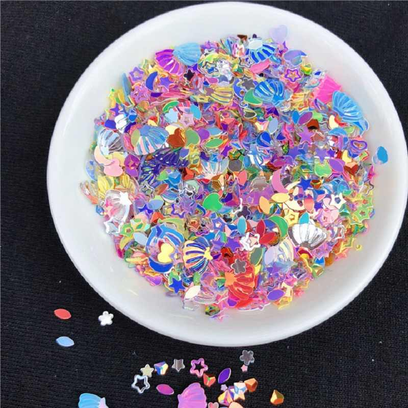 10G/LOT Slime Charms PVC DIY Star Shell Heart Charm For Slime Fillers Charms UV Charms