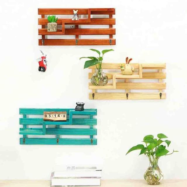 1 Stuck Hause Holz Dekoration Wand Regal Kuche Mehrgeschossigen