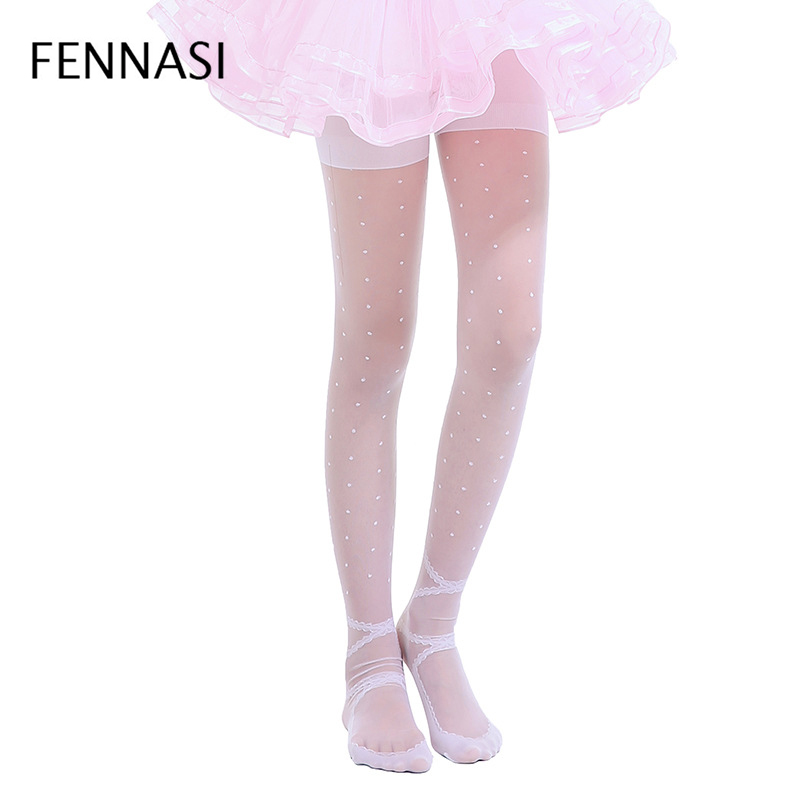FENNASI Childrens Spring Summer Tights For Girls Ballet Dance Stocking Lovely Pantyhose Kids High Quality Stockings