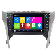 8 inch Car DVD Player Radio GPS Navigation System stereo For Toyota Camry 2012 with Bluethooth free Map SWC