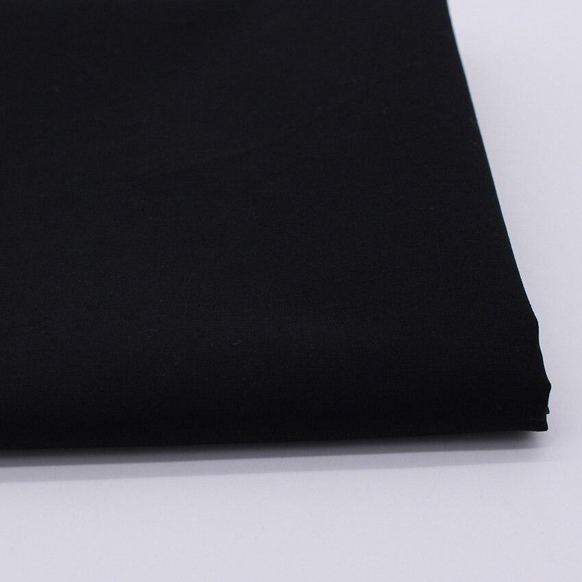 CMCYILING черная хлопковая ткань для платья, ткань для шитья поплин, хлопковая ткань дом текстиль, тканые tetas Tecido 50 см * 147 см