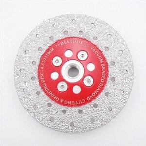 SHDIATOOL 1pc Premium Qualität M14 Gewinde Doppelseitige Vakuum Gelötete Diamant Schneiden & Schleifen Disc Sägeblatt Diamant Rad