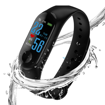 DHL 50PCS Fitness Bracelet Wristband Blood Pressure Spo2 Heart Rate Monitor Activity Tracker for Men Wome Watch PK mi band 3 1