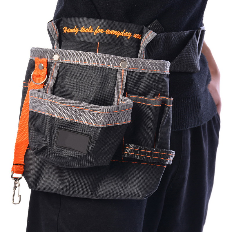 Hoomall Pouch Hand Tools Hardware Storage Tools Bag For Electrician 600D Oxford Cloth Waist Belt Bags Pocket Tool Storage Tool hot selling oxford cloth hard board tool storage bag portable zipper sleeve tool storage bag electrical tool kit
