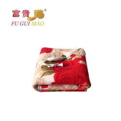 مانتا كهربي fuguimao بطانية كهربائية مزدوجة 150x120 التدفئة الكهربائية بطانية السرير أفخم بطانية السجاد ساخنة ساخنة 220 فولت