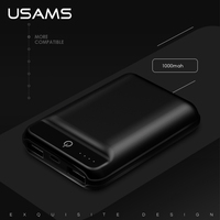 USAMS 10000mAh Power Bank For Xiaomi Dual USB Portable External Battery Mobile Phone Charger For IPhone