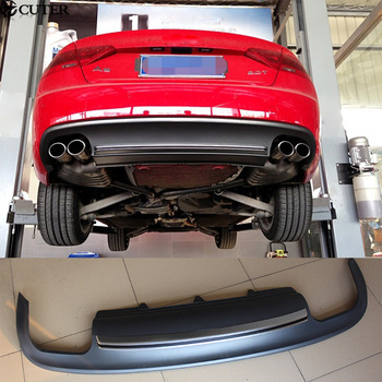 A5 Coupe Sportback S5 style PU Rear Bumper Lip Diffuser For A5 S5 Car body kit 12-16
