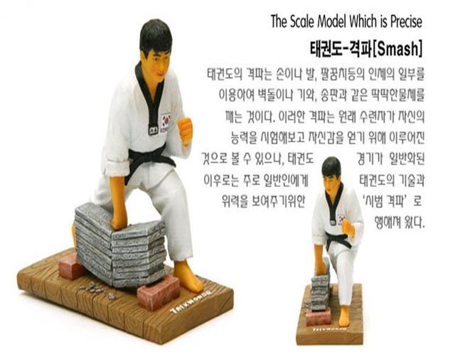 Koreanischen Stil Harz Handwerk Serie Von Taekwondo Mann Riss