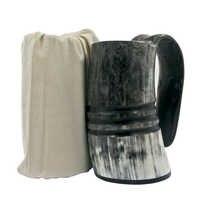 Viking Mug Drinking Horn Tankard Authentic Medieval Inspired drinking Mug -Natural Ox Horn Mug