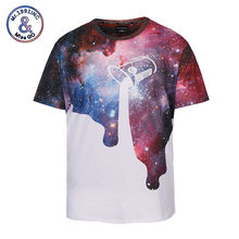 Mr.1991INC Classic New Pour Milk T-shirt Men/women 3d Tshirt Space Galaxy T shirt Brand Fashion Summer Tops Tees Oversized size(China)
