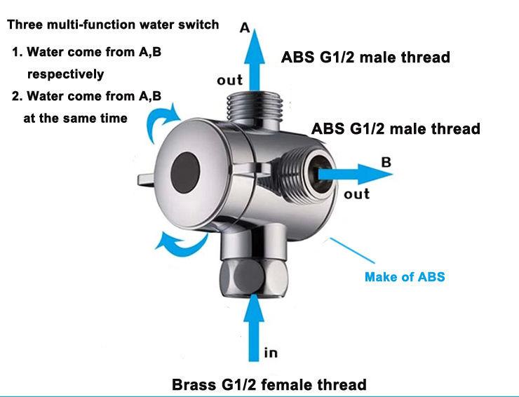 2 Way Shower Diverter Valve.Us 7 42 20 Off Free Shipping 3 Way Shower Head Diverter Valve G1 2
