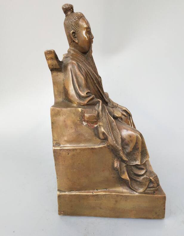 Original Brass Zhang San Feng Statue 5