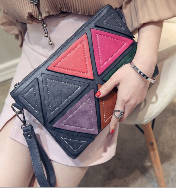 Women Bags Colorful Envelope Bag Shoulder Fashion Handbags Red Zipper New
