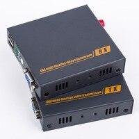 VGA To FC Optical Fiber Media Converter Extender 20km One way Audio KVM USB Port