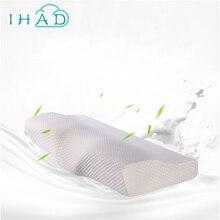 Diseño de la mariposa protección Del Cuello Almohada de Memoria Lenta recuperación Almohada de Espuma de Memoria Cuello Ortopédico Cervical Cuidado de La Salud de Almohadas de Espuma