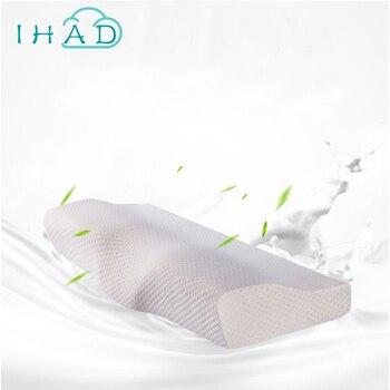 Diseño de la mariposa almohada protección del cuello rebote lento almohada de espuma de memoria de atención de la salud Cervical ortopédicos cuello almohadas de espuma de