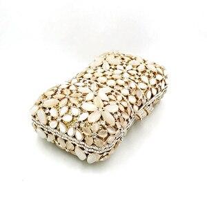 Image 5 - ไนจีเรียเจ้าสาวงานแต่งงานชุดราตรีกระเป๋าเพชรดอกไม้หรูหราคริสตัลคริสตัล Clutches Elegant โอปอลหินกระเป๋า